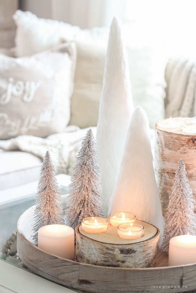 20 Lovely Winter Coffee Table Decoration Ideas 28