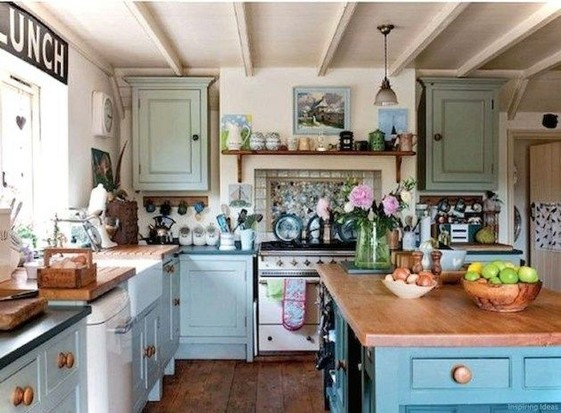 21 Fabulous Cottage Kitchen Cabinets Ideas Country Style 41