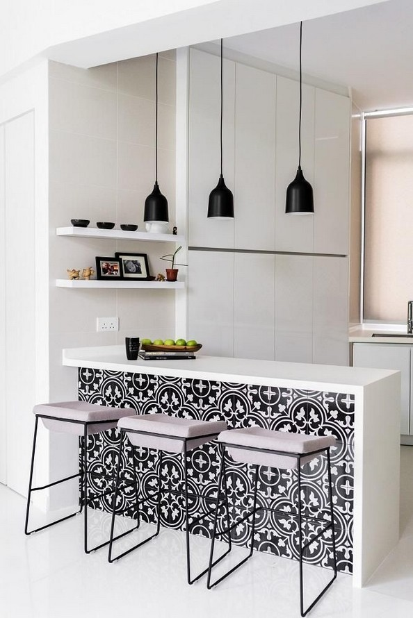 21 Inspiring Black And White Wall Design Ideas For Kitchen 48