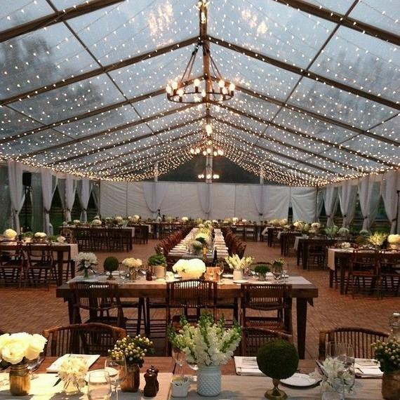 21 Romantic Rustic Winter Wedding Table Decoration Ideas 52