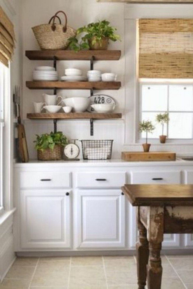 21 Stylish Rustic Kitchen Decor Open Shelves Ideas 09