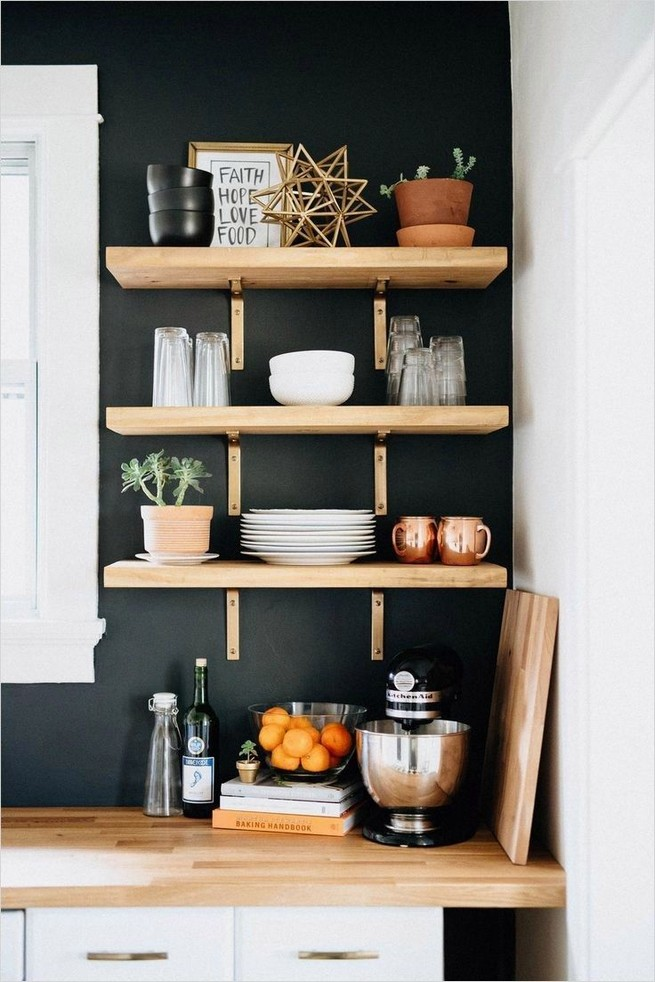 21 Stylish Rustic Kitchen Decor Open Shelves Ideas 32
