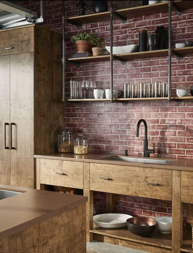 21 Stylish Rustic Kitchen Decor Open Shelves Ideas 37