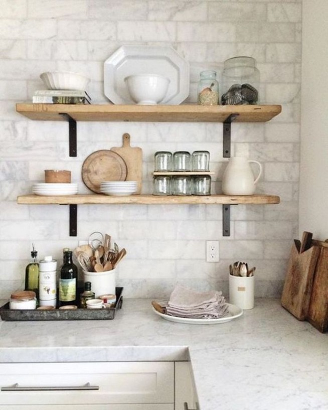 21 Stylish Rustic Kitchen Decor Open Shelves Ideas 44