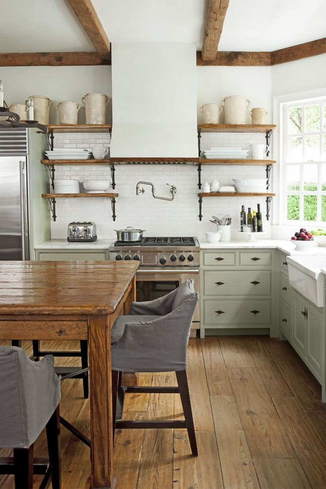 21 Stylish Rustic Kitchen Decor Open Shelves Ideas 53