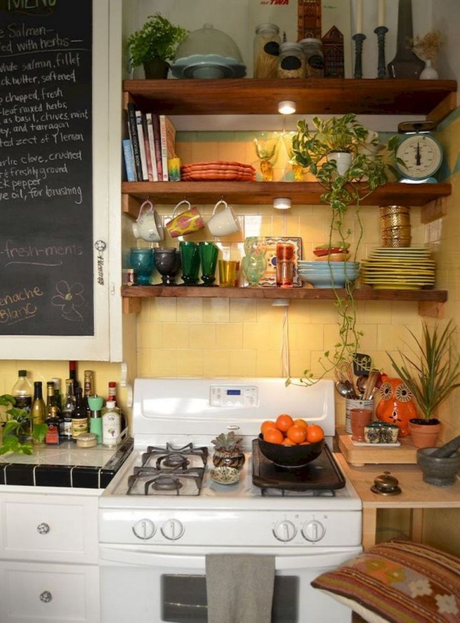 21 Stylish Rustic Kitchen Decor Open Shelves Ideas 57