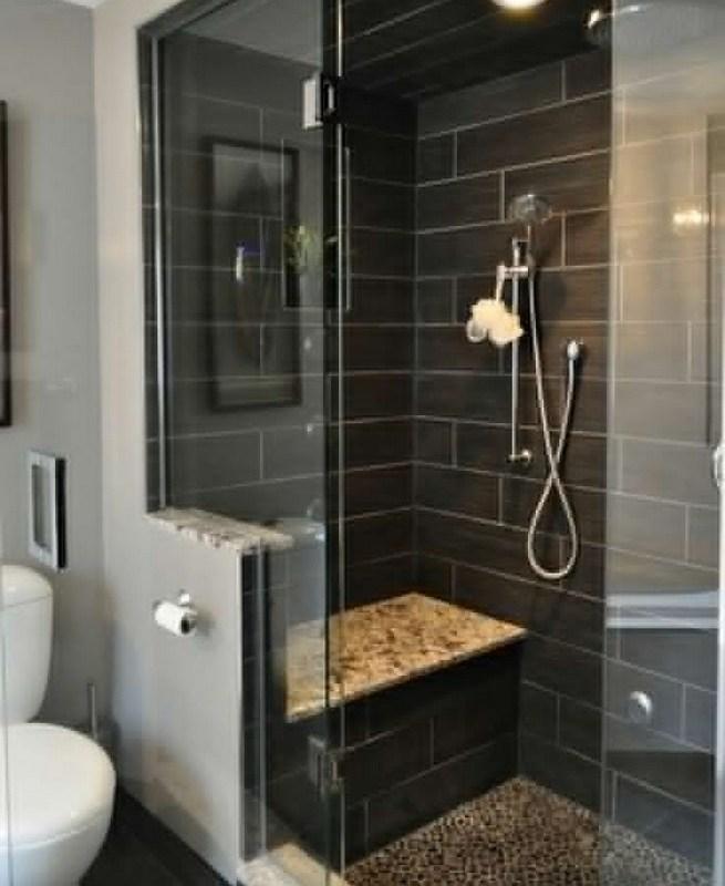 23 Stunning Black Shower Tiles Design Ideas For Bathroom 13