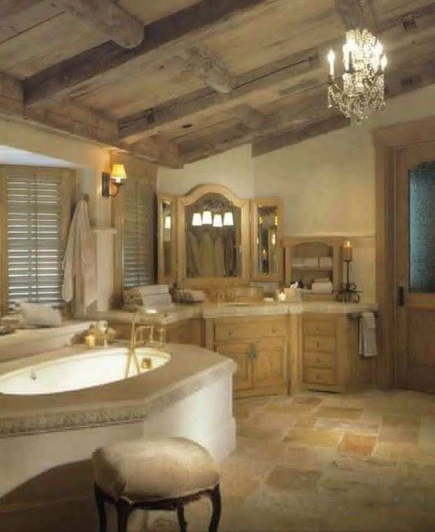 14 Relaxing Luxury Master Bathroom Design Ideas With Rustic Style 01