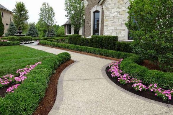 15 Elegant Front Sidewalk Landscaping Ideas 15