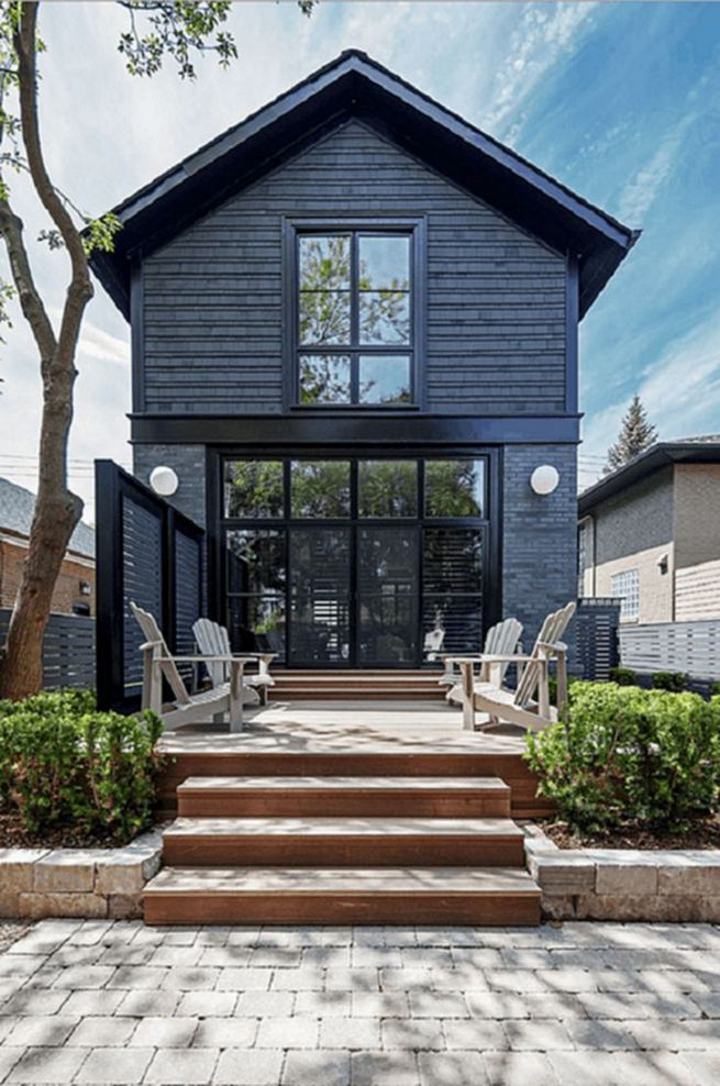 18 Best Ideas For Black House Exterior Design 03
