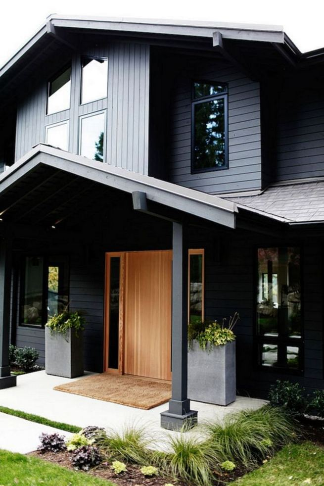 18 Best Ideas For Black House Exterior Design 15