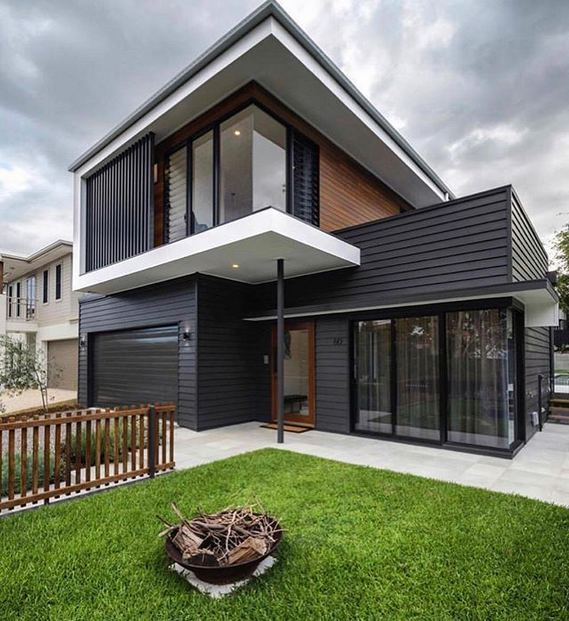 18 Best Ideas For Black House Exterior Design 35