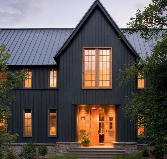 18 Best Ideas For Black House Exterior Design 37
