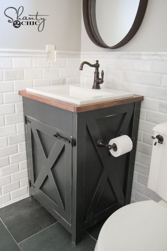 20 Gorgeous Small Bathroom Vanities Design Ideas 30