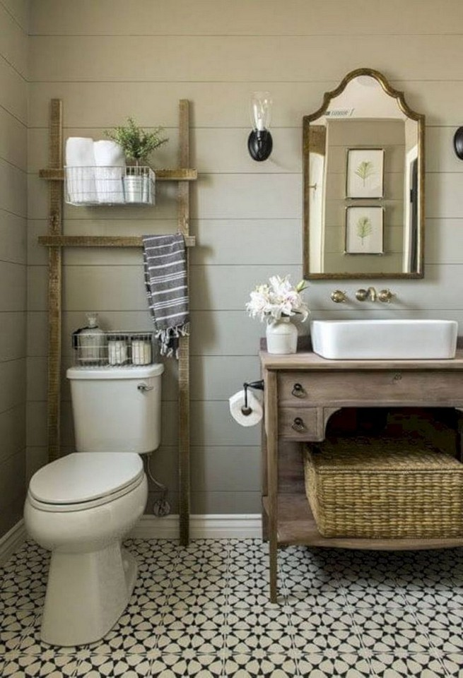 20 Gorgeous Small Bathroom Vanities Design Ideas 38