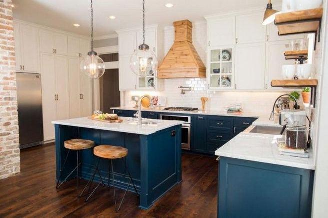 21 Gorgeous Dark Blue Kitchen Cabinets 21