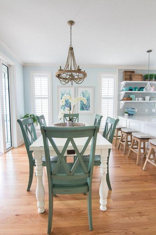 22 Easy Green Dining Room Design Ideas 37