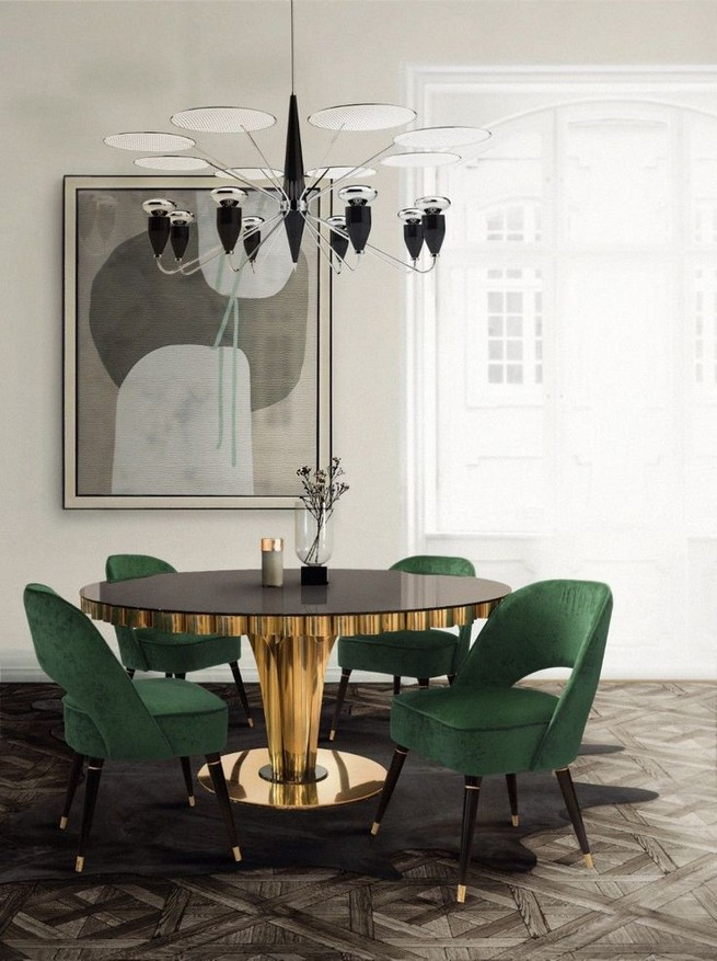 22 Easy Green Dining Room Design Ideas 38