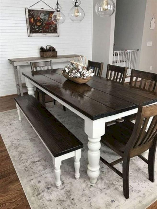 22 Stylish Modern Farmhouse Dining Room Remodel Ideas 26