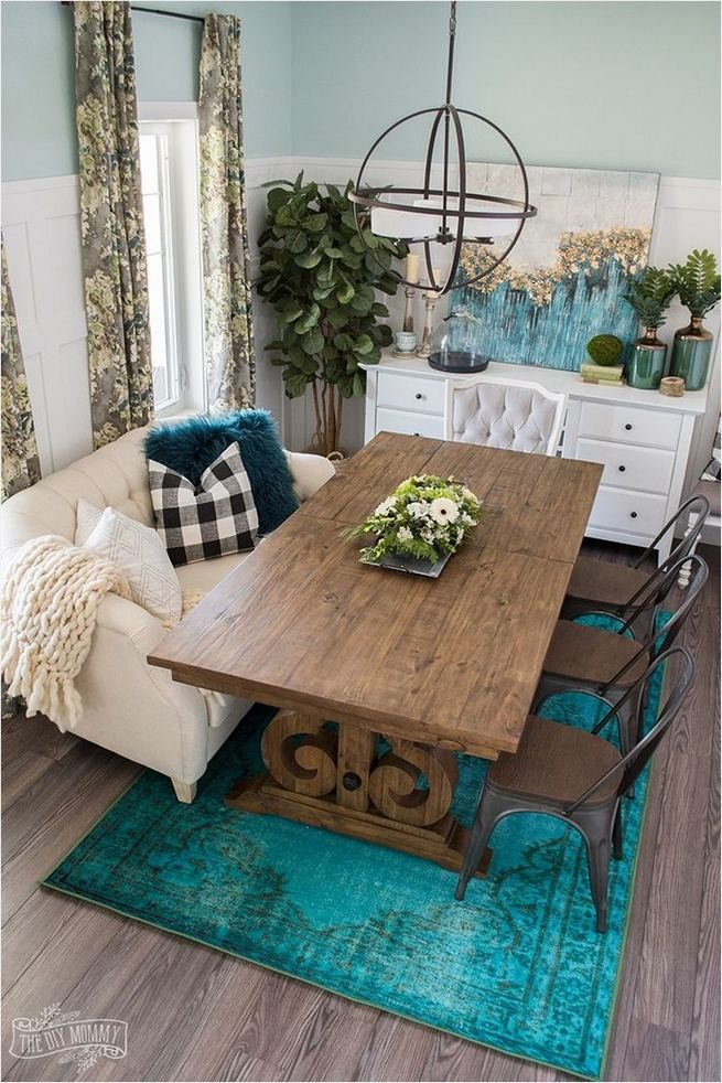 22 Stylish Modern Farmhouse Dining Room Remodel Ideas 32