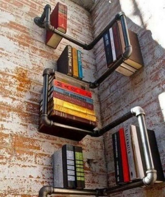 23 Awesome Industrial Wall Bookshelves Designs Ideas 10