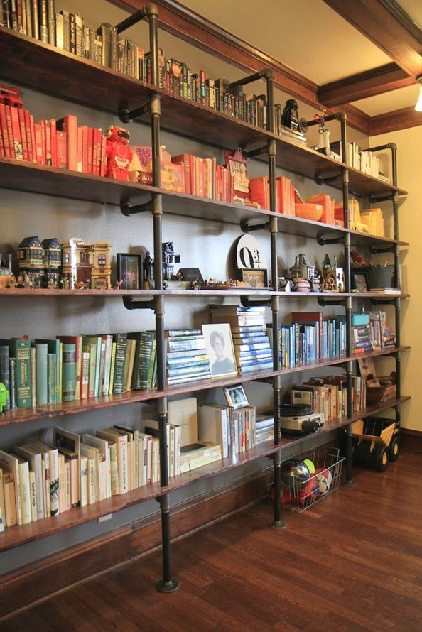 23 Awesome Industrial Wall Bookshelves Designs Ideas 14
