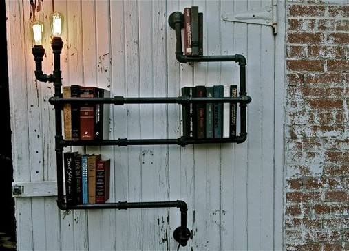 23 Awesome Industrial Wall Bookshelves Designs Ideas 46