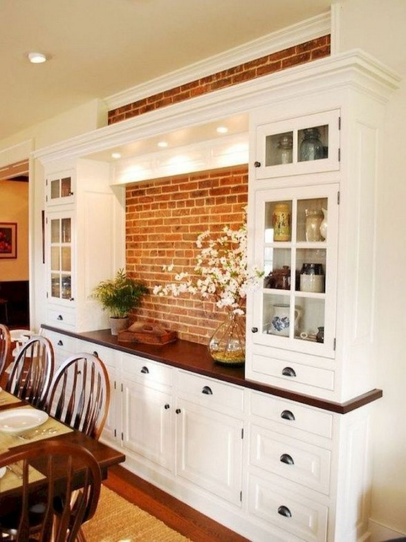 23 Cool Dining Room Wall Cabinet Design Ideas 14