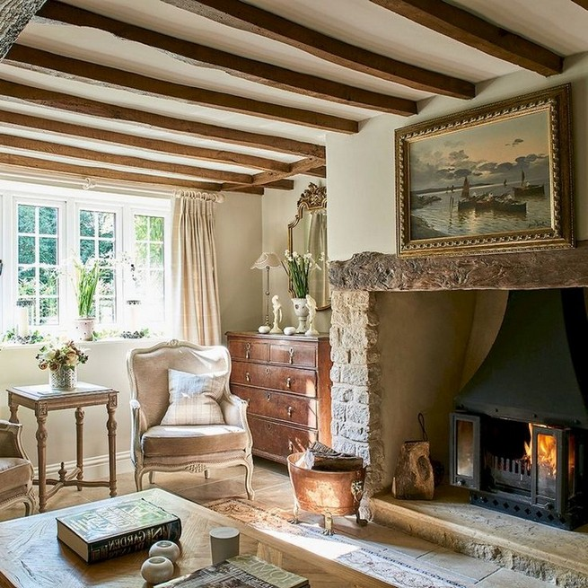 23 Wonderful French Country Living Room Decoration Ideas 51
