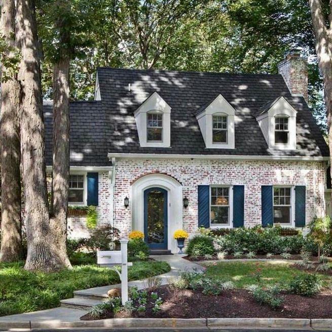 24 Adorable Brick House Exterior Makeover 31