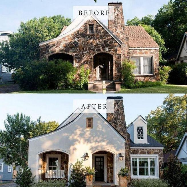 24 Adorable Brick House Exterior Makeover 40
