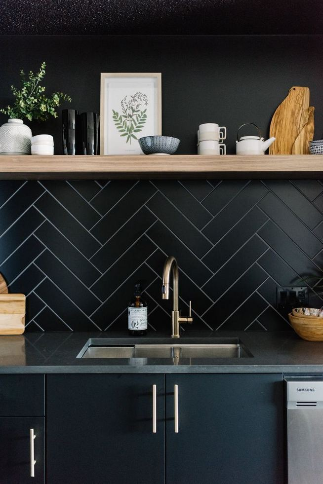 25 Best Ideas For Black Cabinets In Kitchen 22
