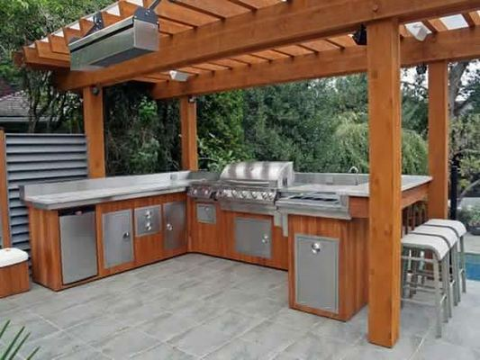 12 Fancy And Modern Outdoor Kitchen Design Ideas 15