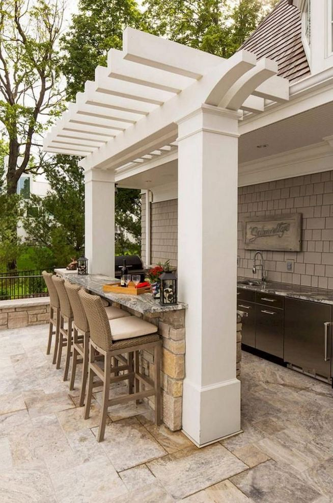 12 Fancy And Modern Outdoor Kitchen Design Ideas 17