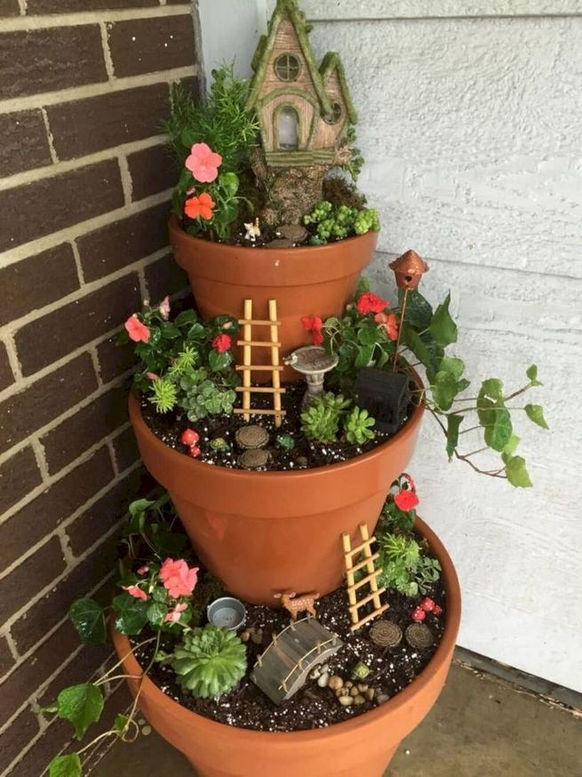 13 Brilliant Flower Pots Ideas For Your Garden 29
