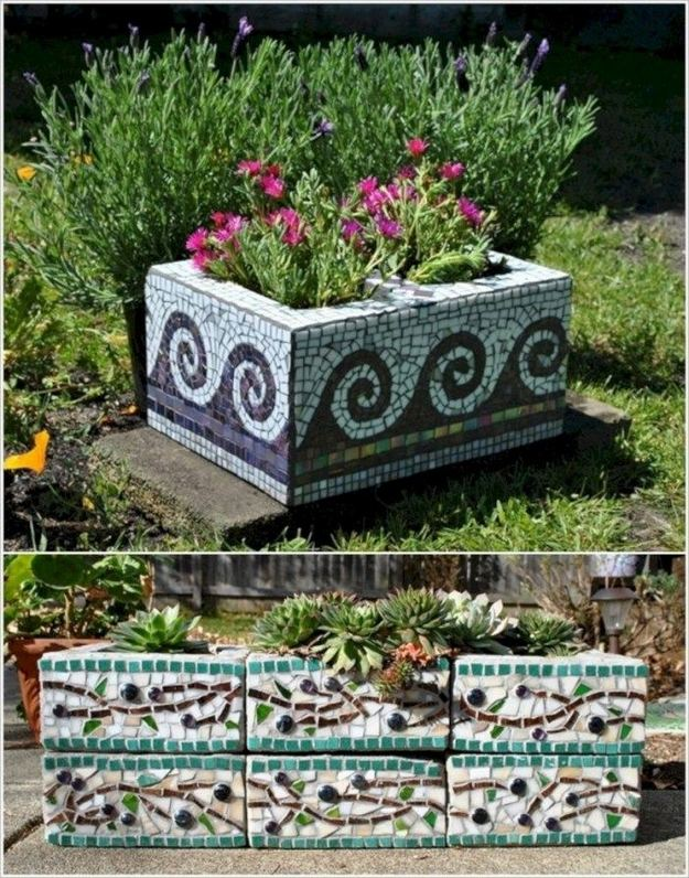 13 Creative Ways To Decorate Your Garden Home Using Cinder Blocks 31