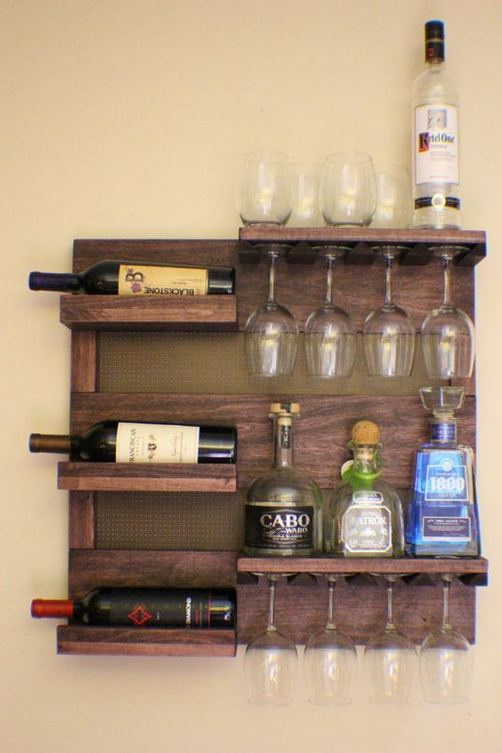 13 Stunning Industrial Wall Wine Rack Designs Ideas 03