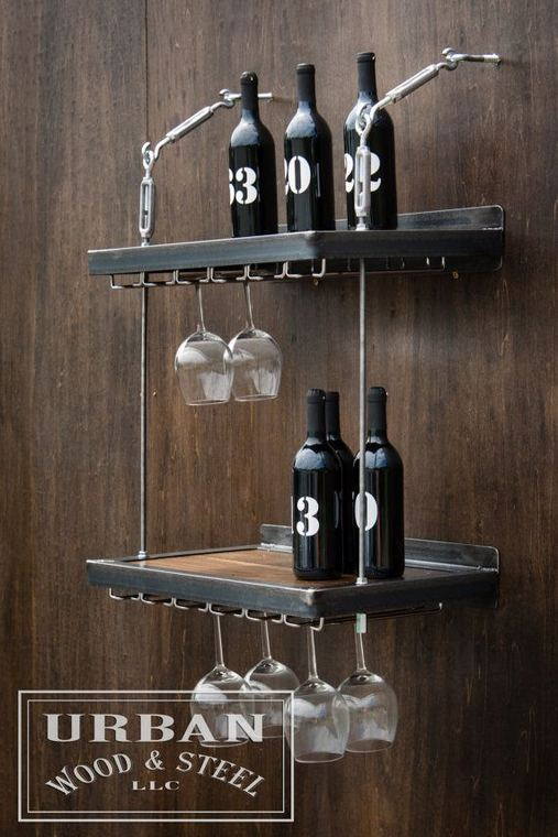 13 Stunning Industrial Wall Wine Rack Designs Ideas 10