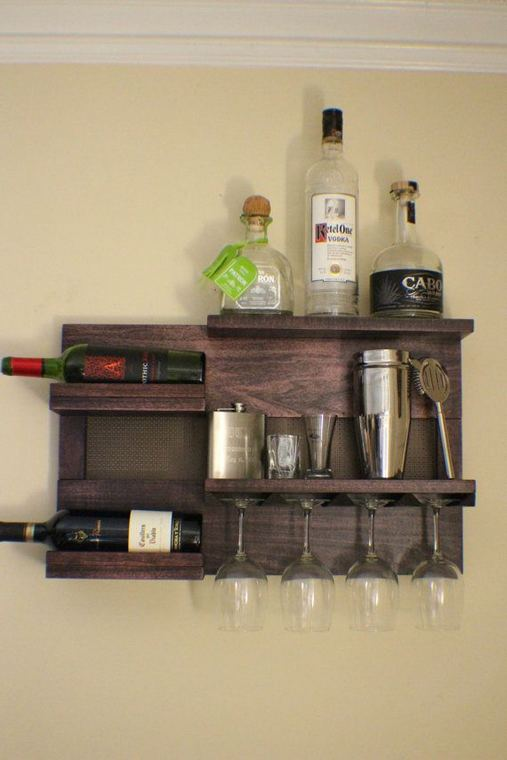 13 Stunning Industrial Wall Wine Rack Designs Ideas 18