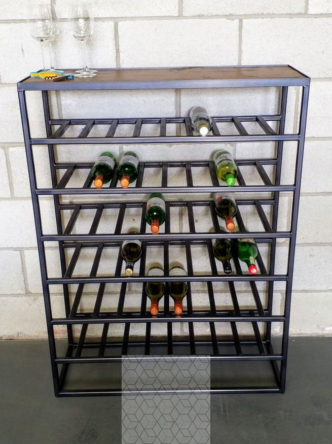 13 Stunning Industrial Wall Wine Rack Designs Ideas 19
