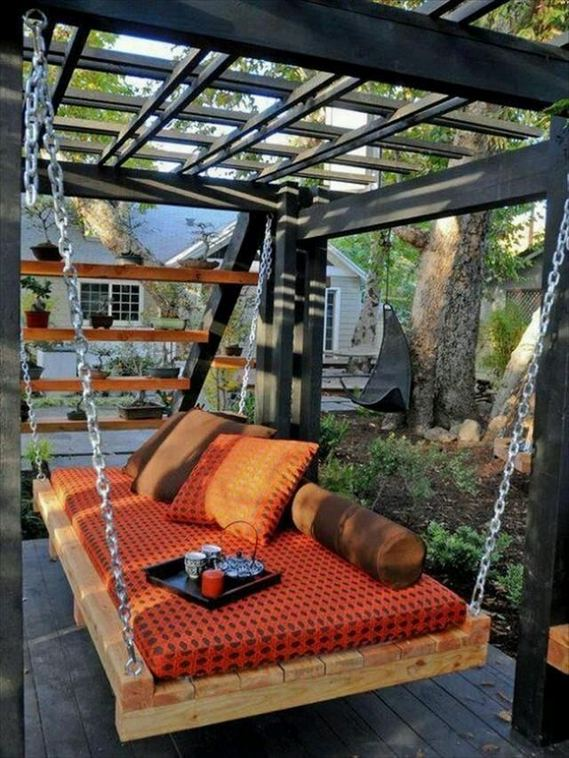 14 Cozy Swing Chairs Garden Ideas 34
