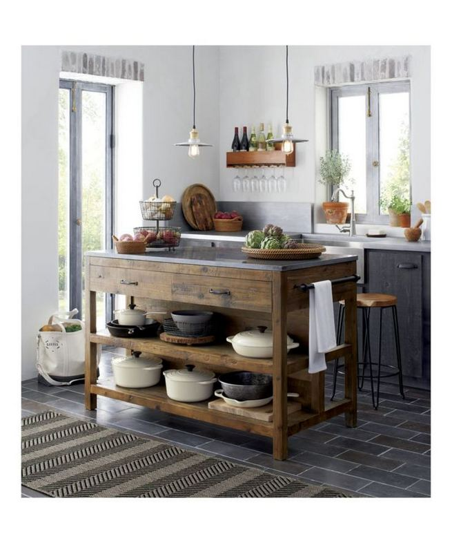 14 Stunning Vintage Wooden Kitchen Island Decor Ideas 24