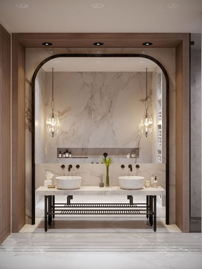 15 Inspiring Marble Bathroom Sink Designs For Your Luxury Home 01