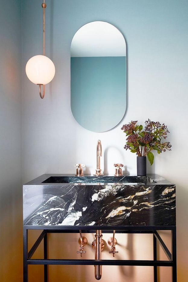 15 Inspiring Marble Bathroom Sink Designs For Your Luxury Home 04
