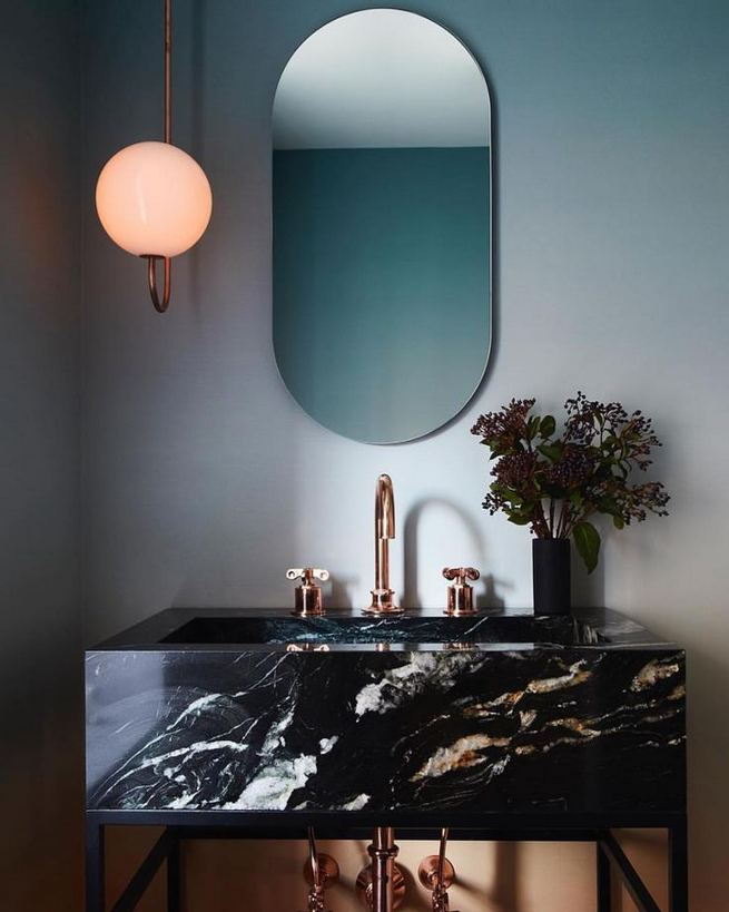 15 Inspiring Marble Bathroom Sink Designs For Your Luxury Home 20
