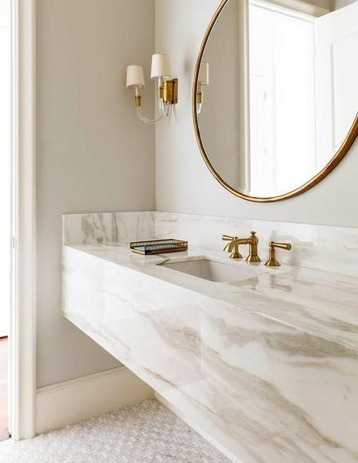 15 Inspiring Marble Bathroom Sink Designs For Your Luxury Home 23