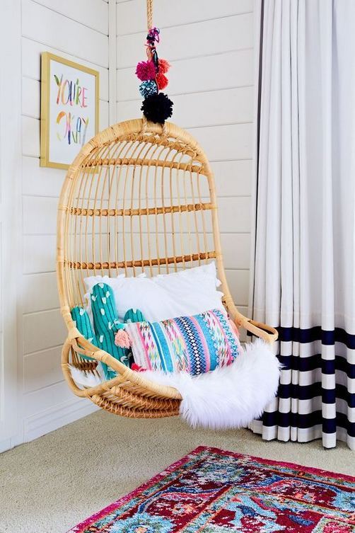 16 Adorable Rattan Hanging Chair Design Ideas 03