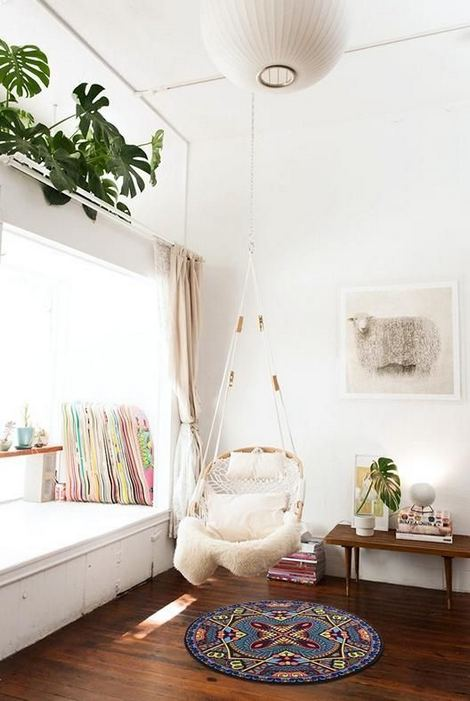 16 Adorable Rattan Hanging Chair Design Ideas 09