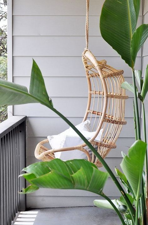 16 Adorable Rattan Hanging Chair Design Ideas 12