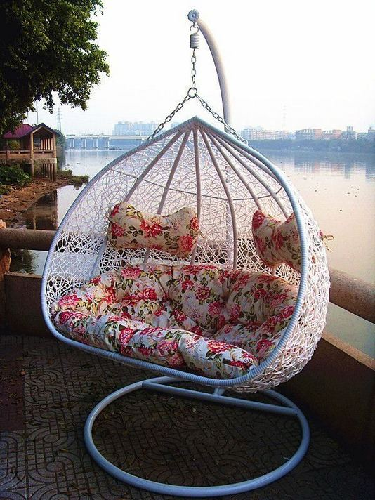 16 Adorable Rattan Hanging Chair Design Ideas 27